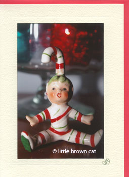 Candy Cane Kid Notecard