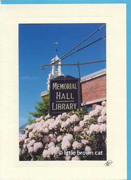 Memorial Hall Library Notecard