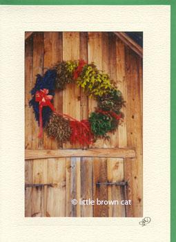 Sugar House Wreath Notecard