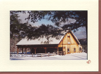 Vermont Barn Notecard
