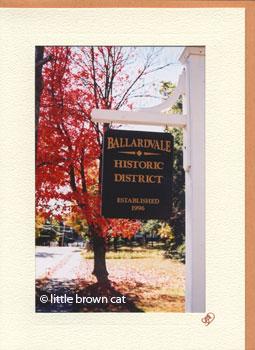 Ballardvale Sign Notecard