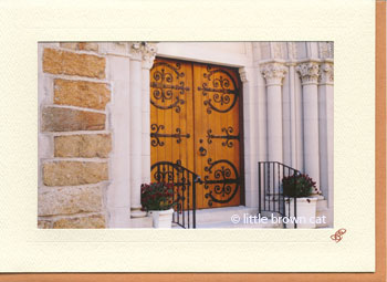 West Parish Chapel Doors Notecard